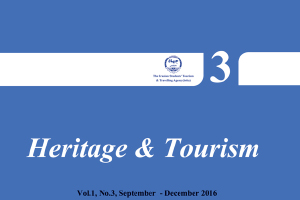 The Third Quarterly on Heritage and Tourism was published in December 2016